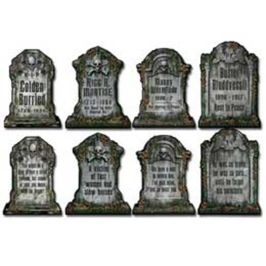 Halloween Decorations Tombstone Cutouts Image