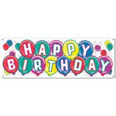 Decorations / Banners & Garlands Happy Birthday Banner Image