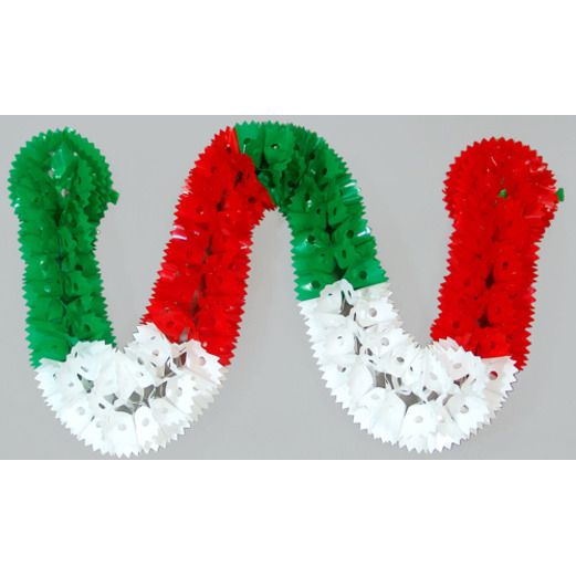 Cinco de Mayo Decorations Red, White, and Green Plastic Garland Image