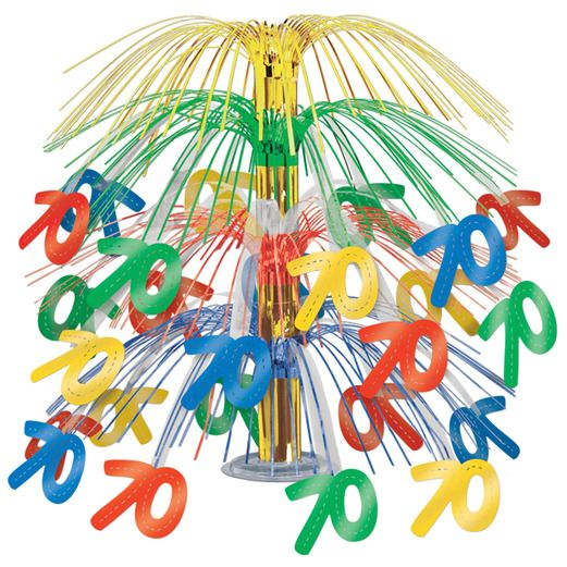 Birthday Party Decorations 70th Cascade Centerpiece Image