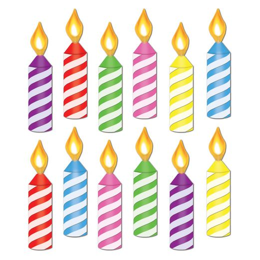 Birthday Party Decorations Mini Birthday Candle Cutouts Image