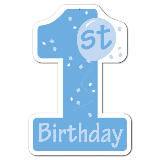 Birthday Party Decorations Blue 1st Birthday Cutout Image