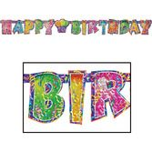Birthday Party Decorations Happy Birthday Streamer Image
