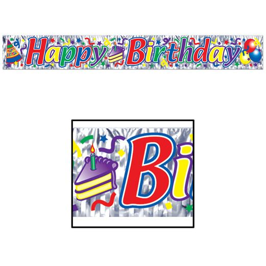 Birthday Party Decorations Happy Birthday Fringe Banner Image