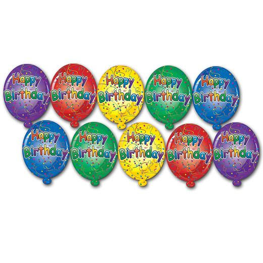 Birthday Party Decorations Mini Happy Birthday Cutouts Image