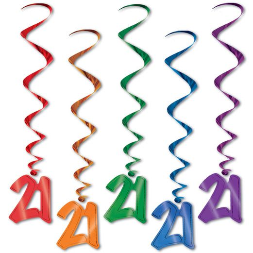 Birthday Party Decorations 21 Whirls Image