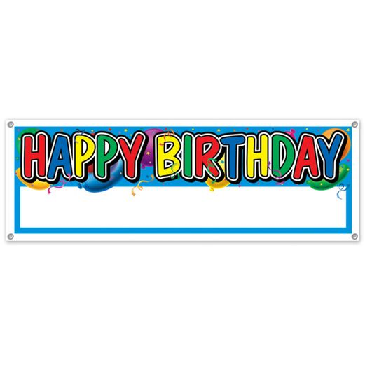 Birthday Party Decorations Happy Birthday Blank Sign Banner Image