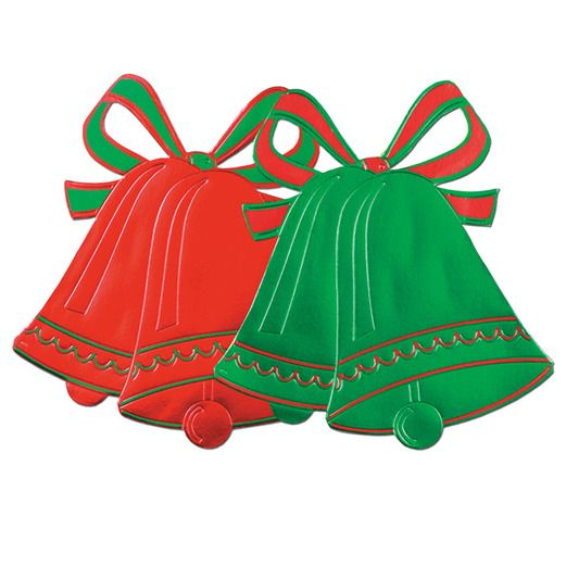 foil christmas bell cutout christmas decorations - Cut Out Christmas Decorations