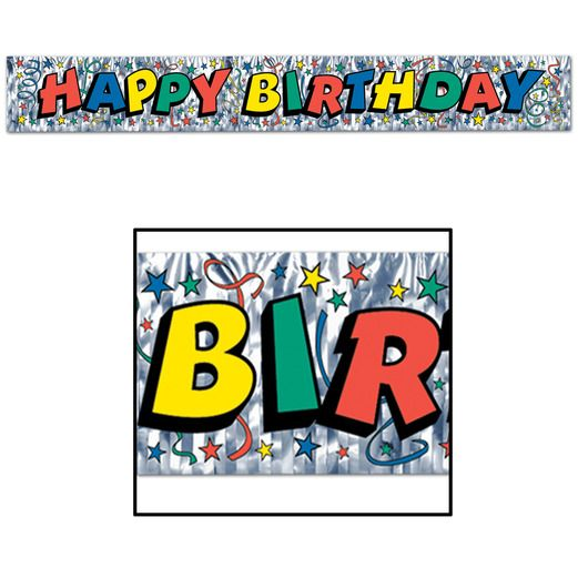 Birthday Party Decorations Birthday Fringe Banner Image