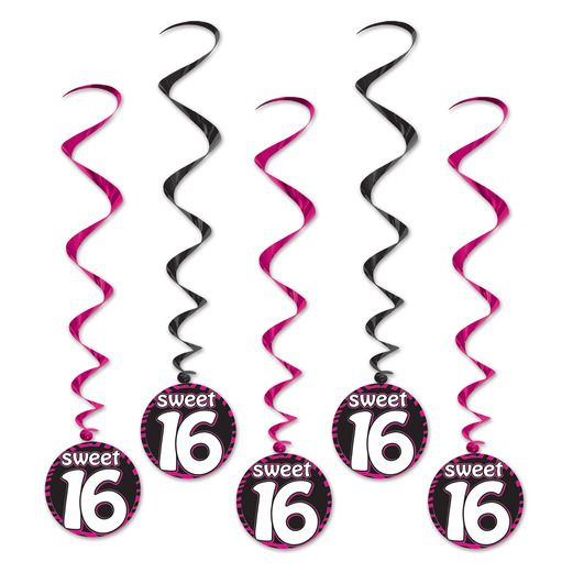 Birthday Party Decorations Sweet 16 Whirls Image