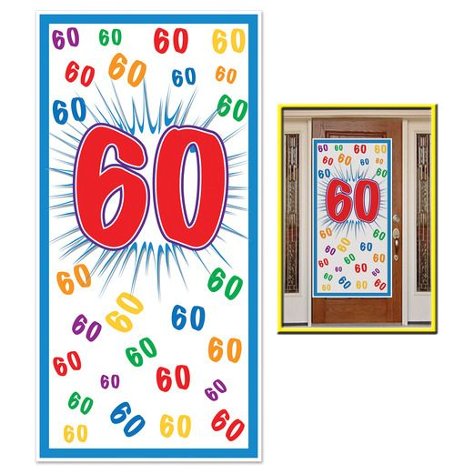 Birthday Party Decorations 60th Door Cover Image