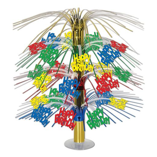 Birthday Party Decorations Happy Birthday Cascade Centerpiece Image
