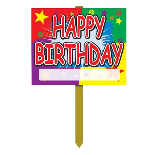 Birthday Party Decorations Happy Birthday Yard Sign Image