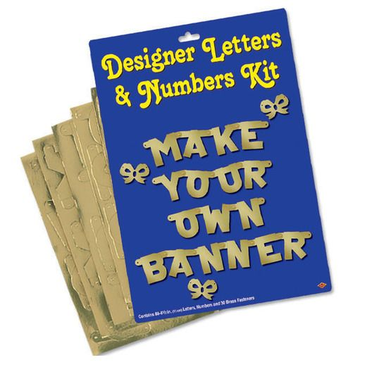 Birthday Party Decorations Gold Letter and Number Kit Image