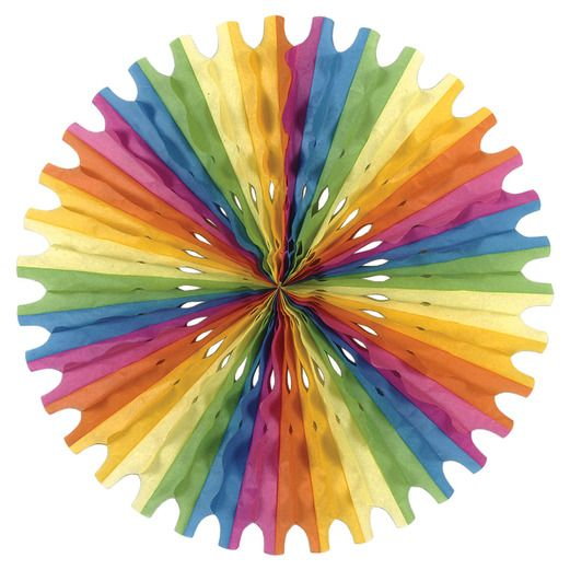 Cinco de Mayo Decorations Multicolor Tissue Fan Image