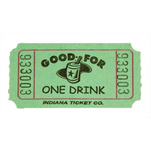 Tickets & Wristbands Green Drink Ticket Roll Image