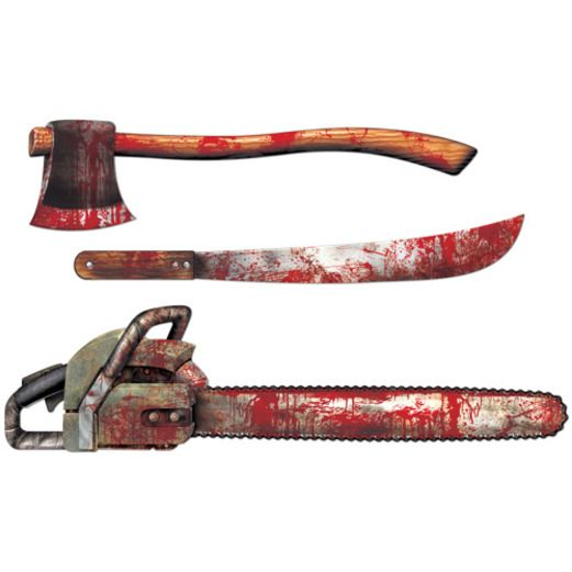 Halloween Decorations Bloody Weapon Cutouts Image