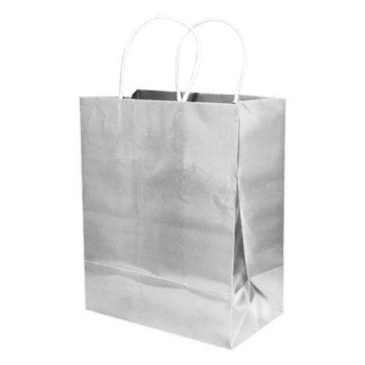 Gift Bags & Paper Medium Gift Bag Silver Image