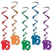 Birthday Party Decorations 16 Whirls Image