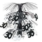 Birthday Party Decorations 30th Black & Silver Cascade Centerpiece Image