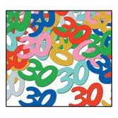 "Birthday Party Decorations ""30"" Confetti Multicolor Image"