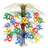 Birthday Party Decorations 50th Multicolor Cascade Centerpiece Image
