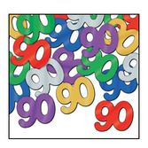 Birthday Party Decorations 90th Multicolored Confetti Image