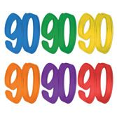 Birthday Party Decorations Number 90 Foil Cutout Image