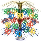 Birthday Party Decorations 90th Multicolor Cascade Centerpiece Image