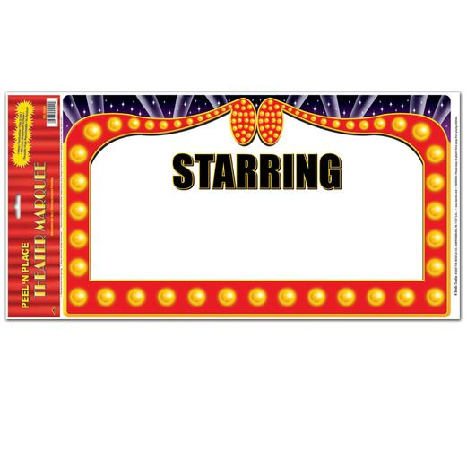 Awards Night & Hollywood Decorations Theatre Marquee Peel N Place Image