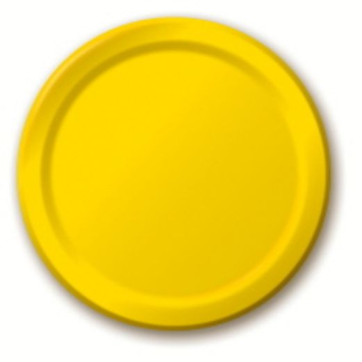 Mardi Gras Table Accessories Golden Yellow Dessert Plates Image