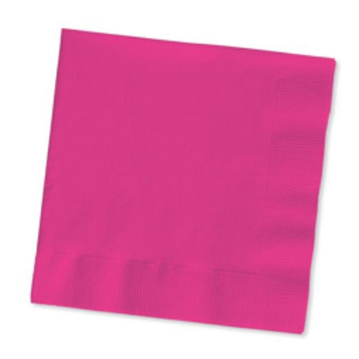 Valentine's Day Table Accessories Hot Pink Luncheon Napkins Image