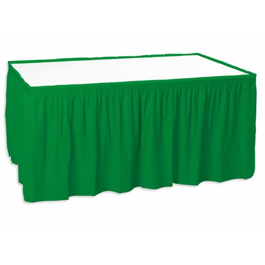St. Patrick's Day Table Accessories Green Table Skirt Image