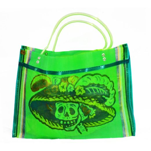 Day of the Dead Decorations Day of the Dead Square Mesh Bag Image