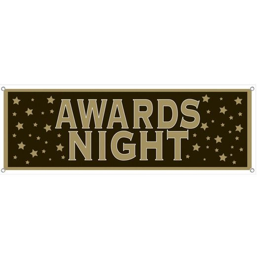 Awards Night & Hollywood Decorations Awards Night Sign Banner Image