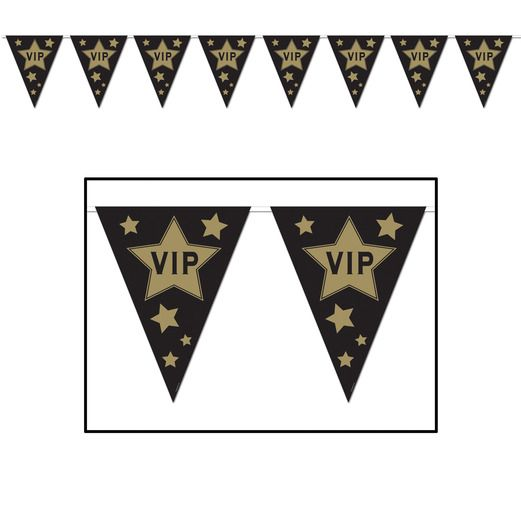 Awards Night & Hollywood Decorations VIP Pennant Banner Image