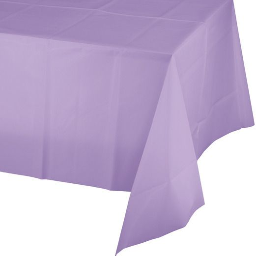 Baby Shower Table Accessories Rectangular Table Cover Lavender Image