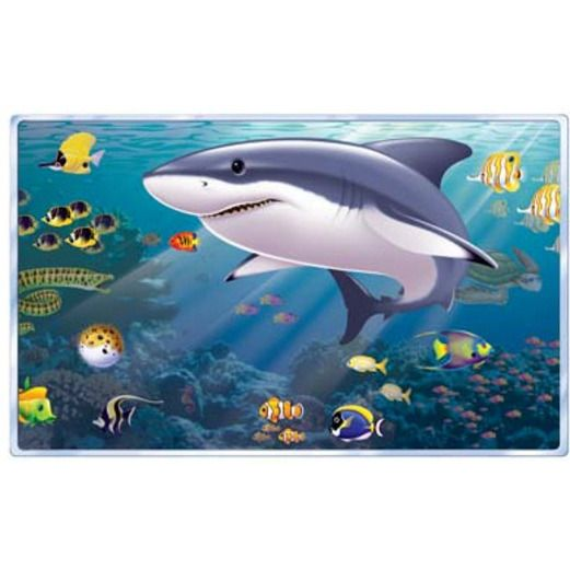Luau Decorations Aquarium Backdrop Image