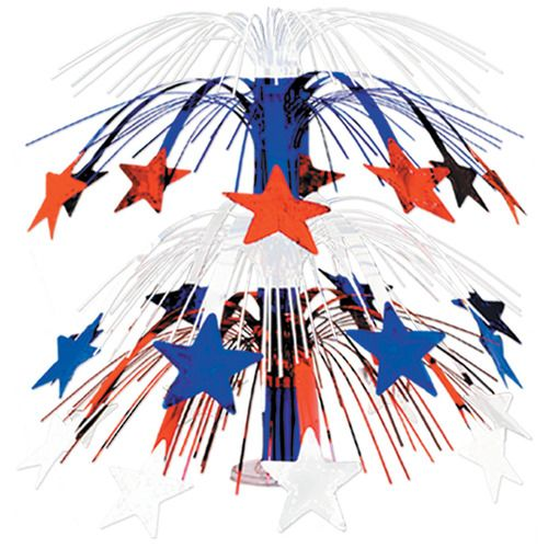 Red, White and Blue Star Cascade Centerpiece