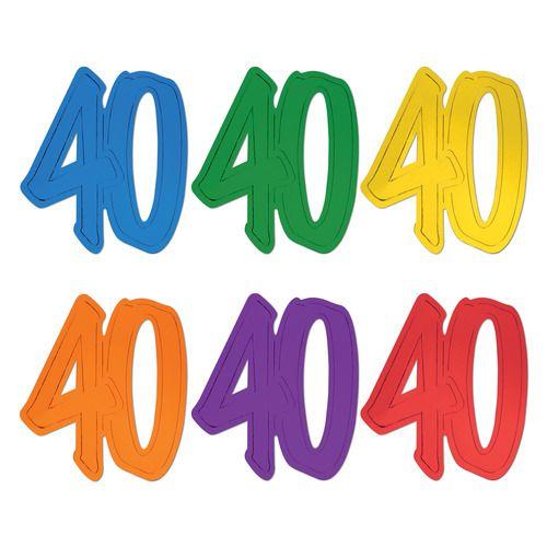 Number 40 Foil Cutout