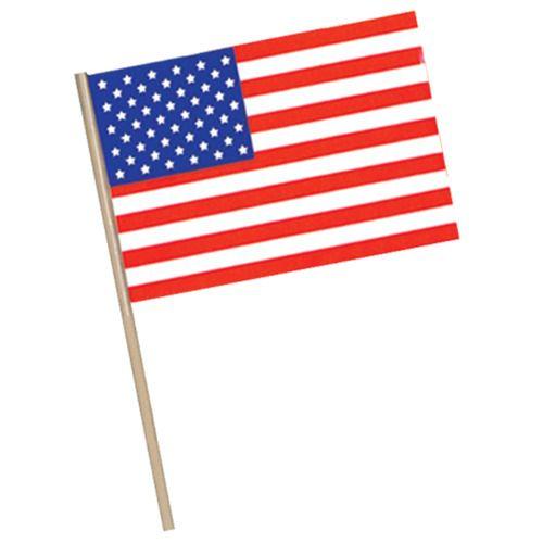 "4""x 6"" Plastic  American Flag"