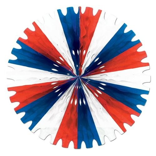 Red, White, and Blue Tissue Fan
