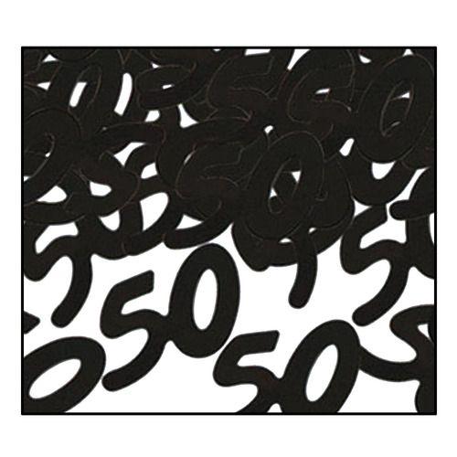 """""""50"""" Confetti Black"""