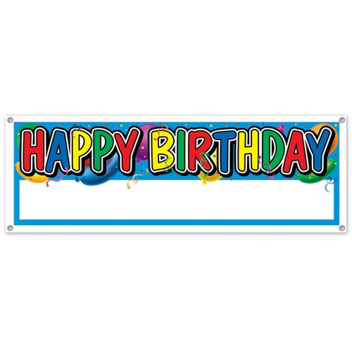 Happy Birthday Blank Sign Banner
