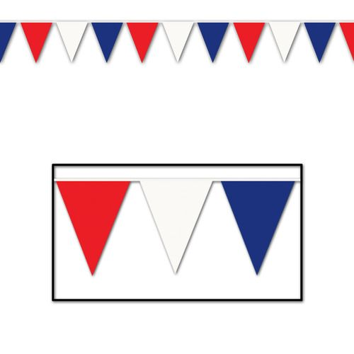 120' Red-White-Blue Pennant