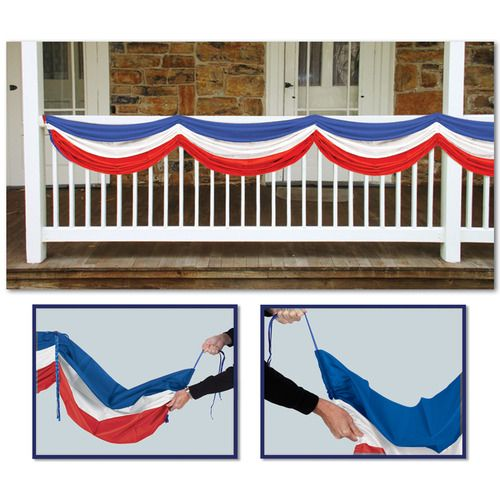 Red, White, and Blue Fabric Bunting