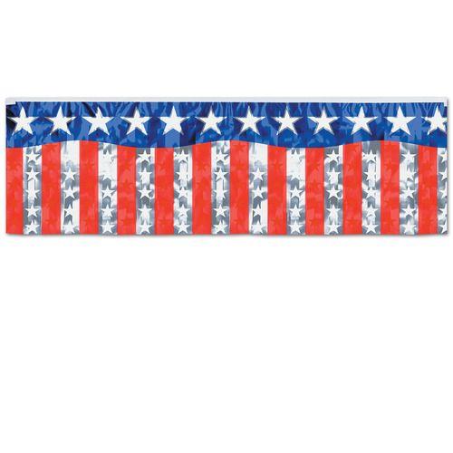 Metallic Patriotic Banner