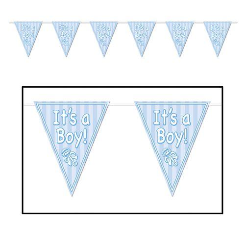 Its A Boy Pennant Banner