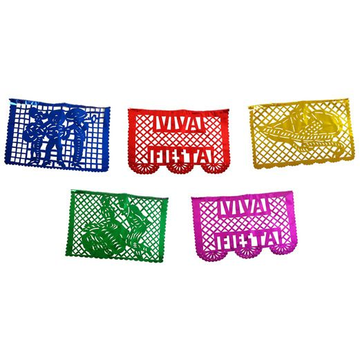 Cinco de Mayo Decorations Large Metallic Fiesta Picado Image