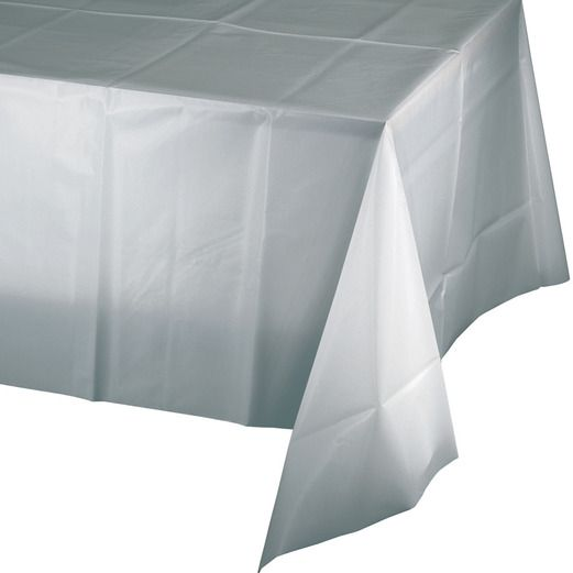 Table Accessories / Table Covers Rectangular Table Cover Silver Image